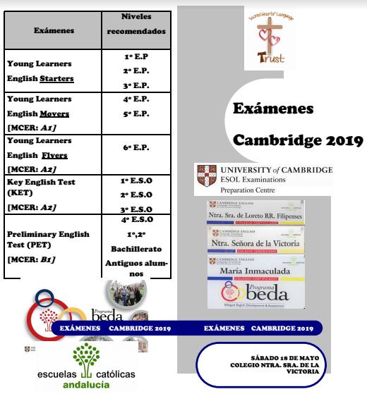 INSCRIPCIÓN EXÁMENES CAMBRIDGE