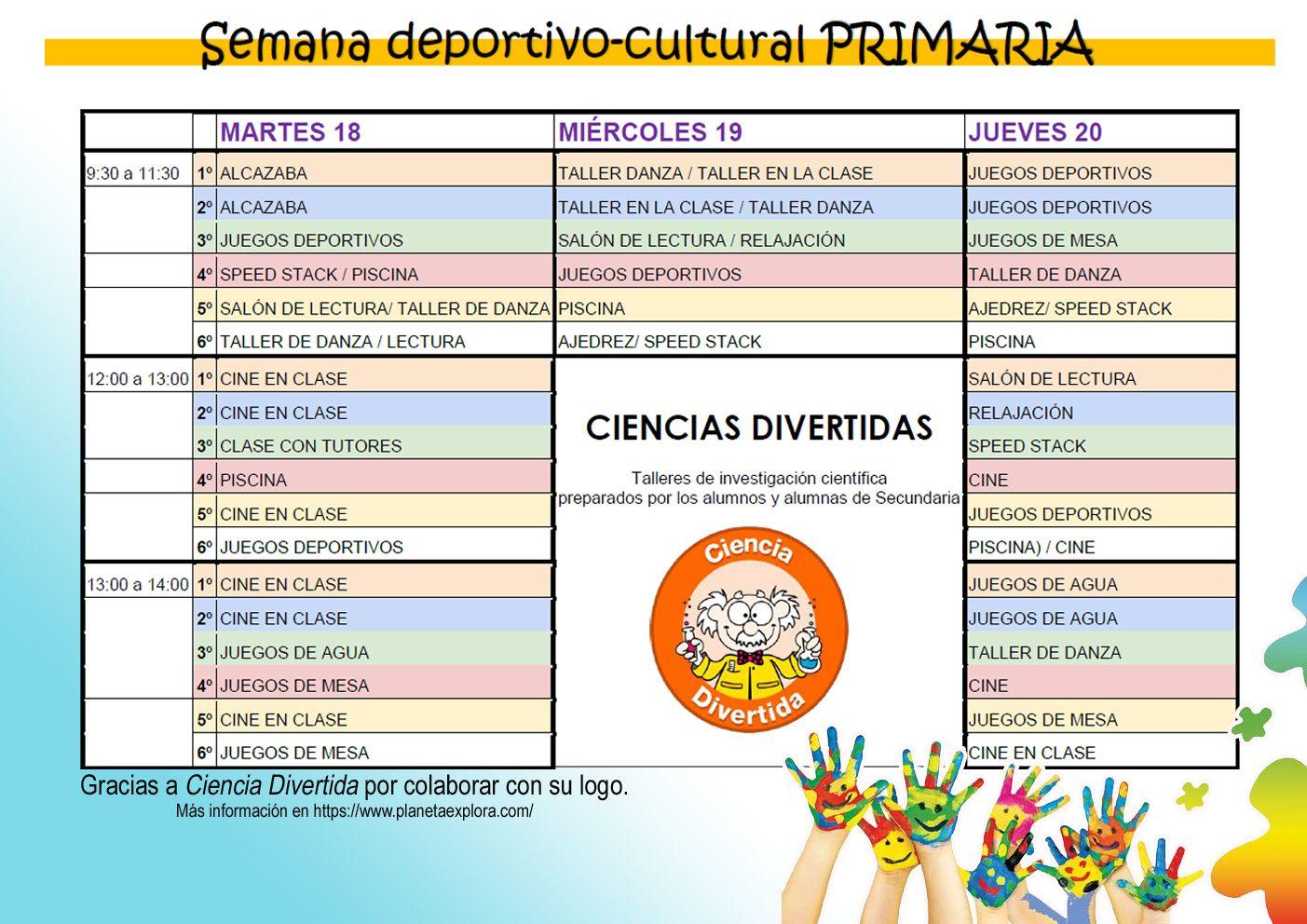 SEMANA DEPORTIVO-CULTURAL PRIMARIA